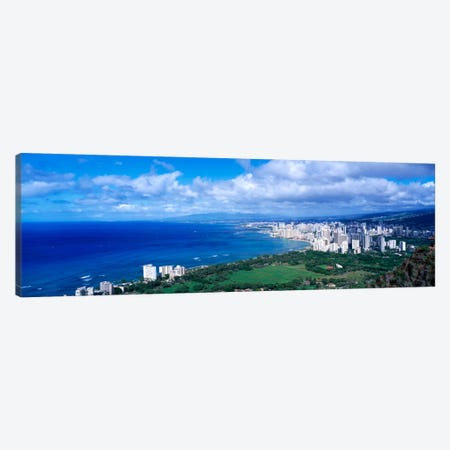 Waikiki Honolulu Oahu HI USA Canvas Print #PIM1636} by Panoramic Images Canvas Art Print