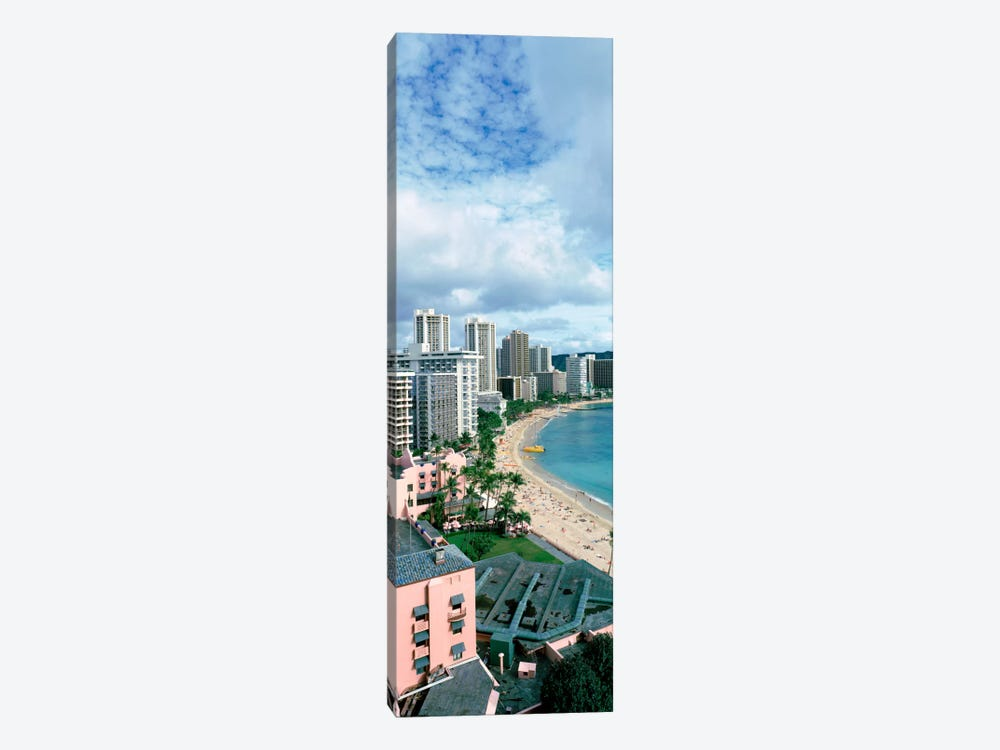 High angle view of a beach, Waikiki Beach, Honolulu, Oahu, Hawaii, USA by Panoramic Images 1-piece Canvas Wall Art