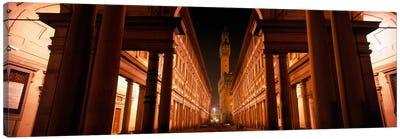 Palazzo Vecchio At Night As Seen From Piazzale degli Uffizi, Florence, Tuscany, Italy Canvas Print #PIM1642