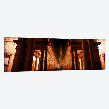 Palazzo Vecchio At Night As Seen From Piazzale degli Uffizi, Florence, Tuscany, Italy Canvas Print #PIM1642} by Panoramic Images Canvas Print