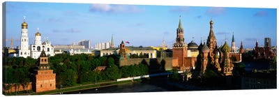 High-Angle View Of Red Square, Moscow, Russian Federation Canvas Art Print