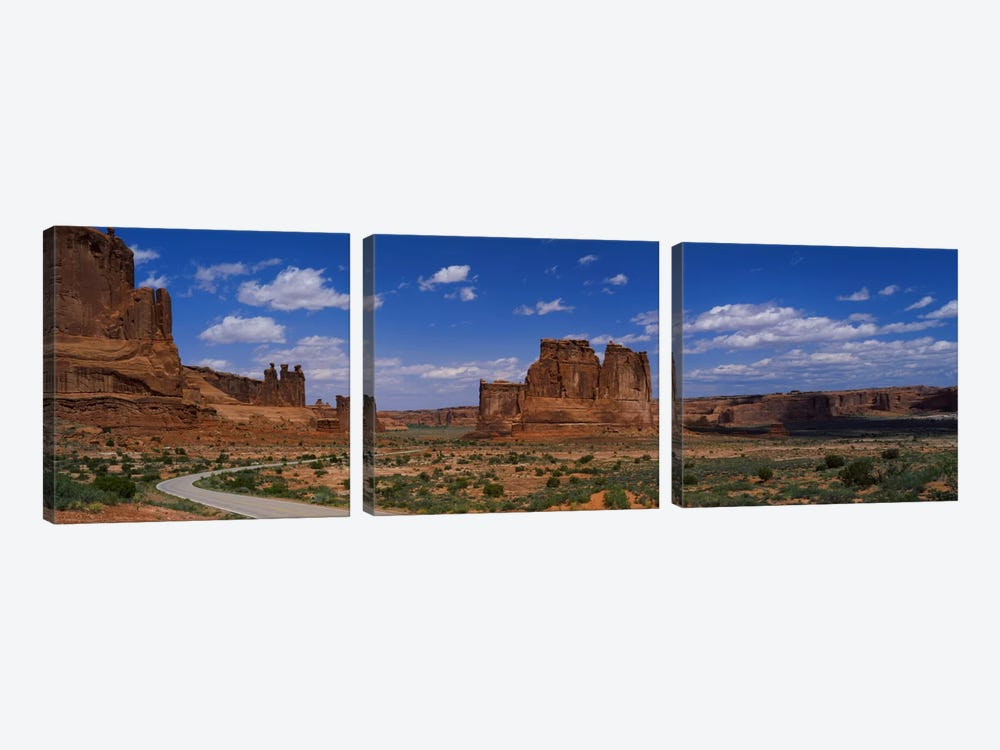 Scenic Drive, Arches National Park, Utah, USA by Panoramic Images 3-piece Canvas Art Print