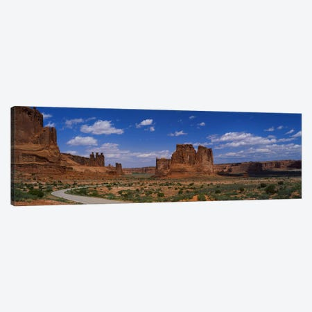 Scenic Drive, Arches National Park, Utah, USA 3-Piece Canvas #PIM1645} by Panoramic Images Canvas Wall Art