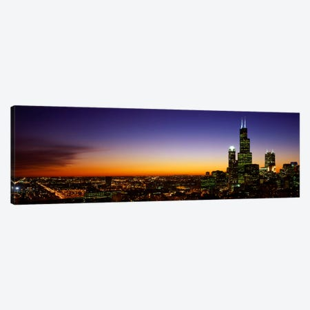 Night Chicago IL USA  Canvas Print #PIM1647} by Panoramic Images Canvas Art