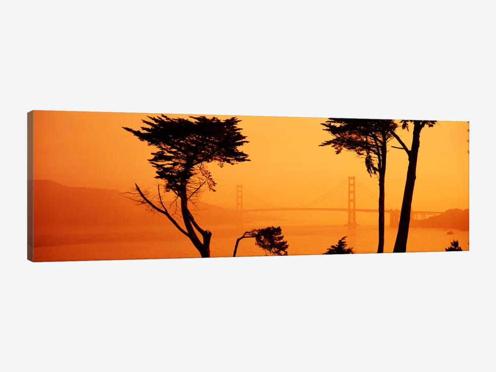 Bridge Over Water, Golden Gate Bridge, San Francisco, California, USA 1-piece Canvas Art
