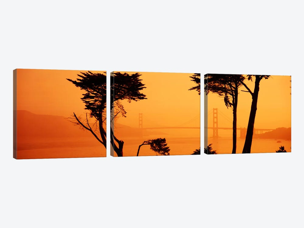 Bridge Over Water, Golden Gate Bridge, San Francisco, California, USA by Panoramic Images 3-piece Canvas Wall Art