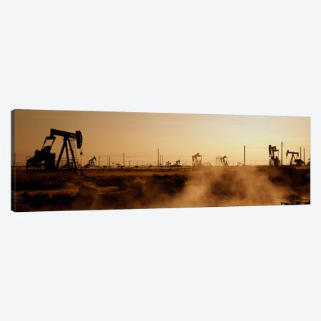 Oil Derrick, South Belridge Oil Field, Kern County, California, USA Canvas Print #PIM1649} by Panoramic Images Canvas Art Print