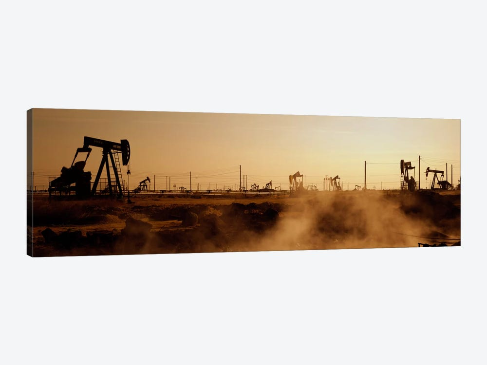 Oil Derrick, South Belridge Oil Field, Kern County, California, USA by Panoramic Images 1-piece Canvas Print