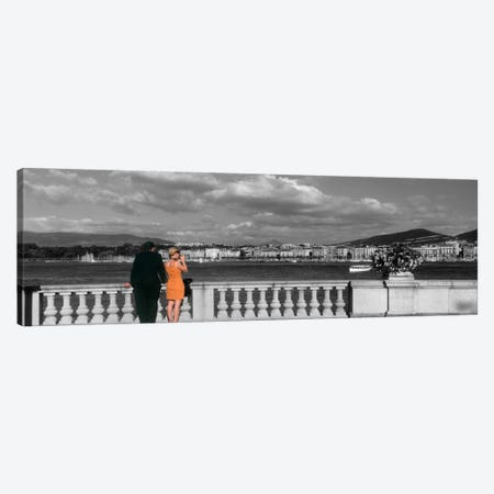 Couple at Leman Geneva Switzerland Canvas Print #PIM1651} by Panoramic Images Canvas Art