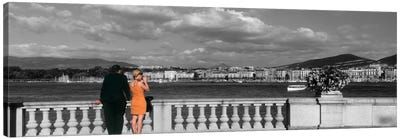 Couple at Leman Geneva Switzerland Canvas Print #PIM1651