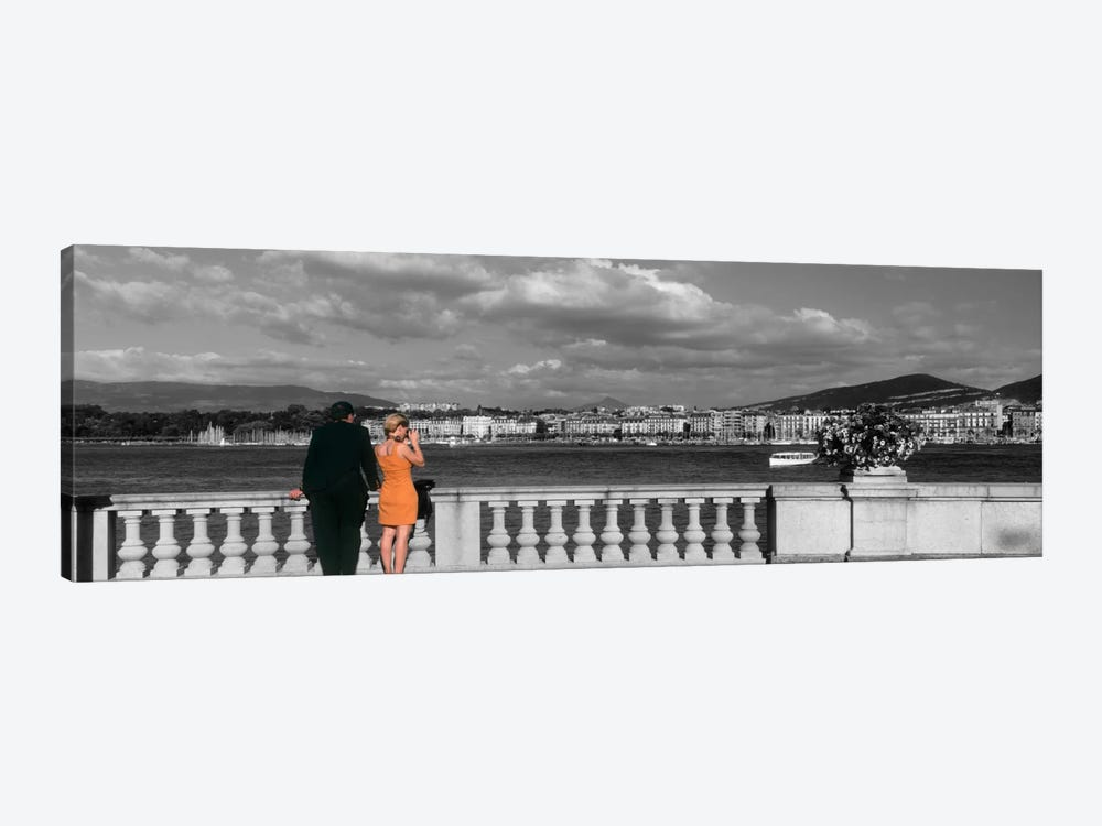 Couple at Leman Geneva Switzerland by Panoramic Images 1-piece Canvas Art