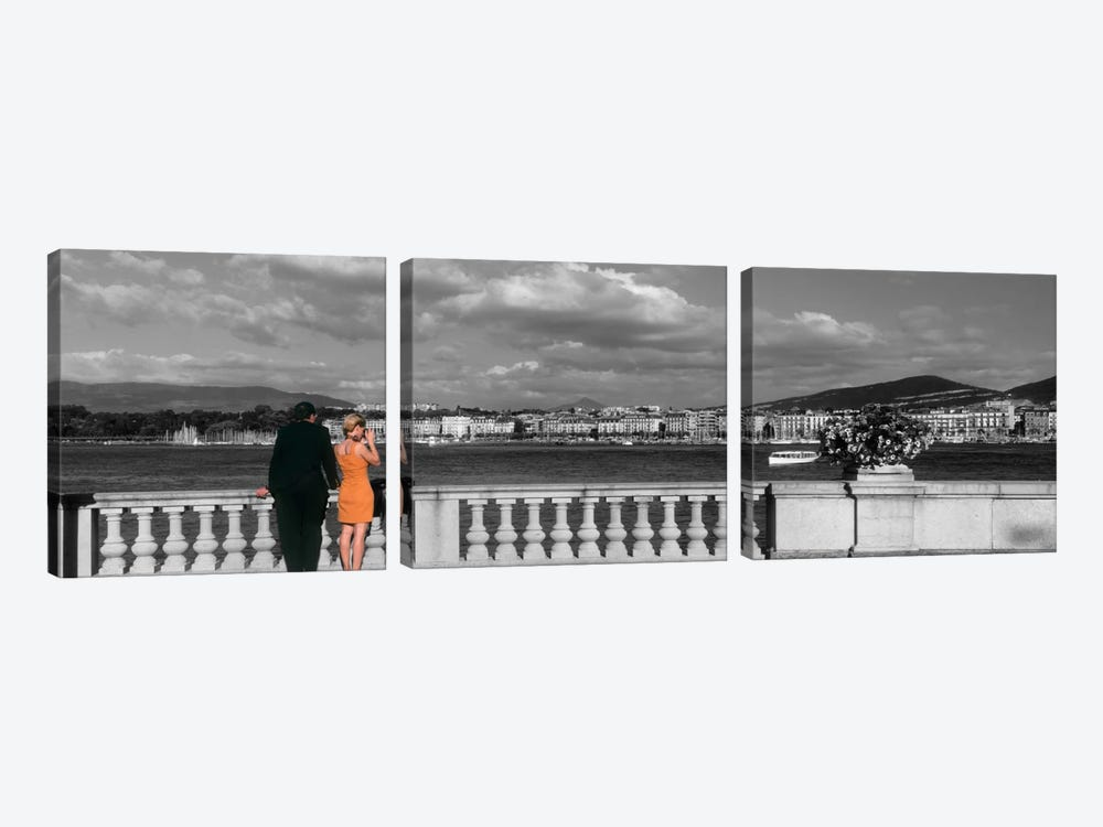Couple at Leman Geneva Switzerland by Panoramic Images 3-piece Canvas Art