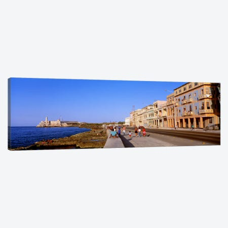 Malecon View, La Habana Vieja, Havana, Cuba Canvas Print #PIM1652} by Panoramic Images Canvas Artwork