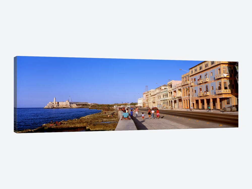 Malecon View, La Habana Vieja, Havana, Cuba by Panoramic Images 1-piece Canvas Print