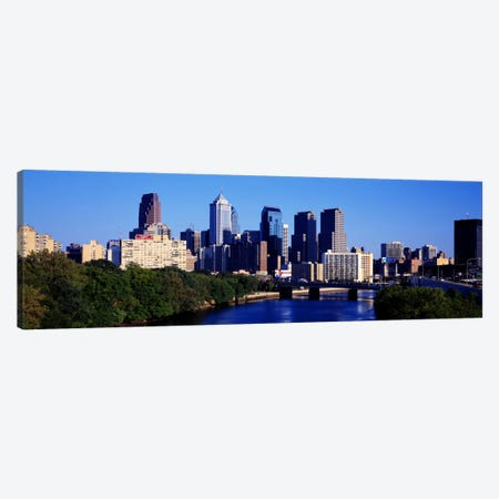 Delaware River, Philadelphia, Pennsylvania, USA Canvas Print #PIM1656} by Panoramic Images Canvas Art Print