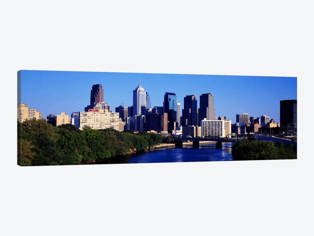 Delaware River, Philadelphia, Pennsylvania, USA by Panoramic Images 1-piece Canvas Art Print