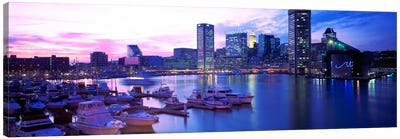 SunsetInner Harbor, Baltimore, Maryland, USA Canvas Art Print
