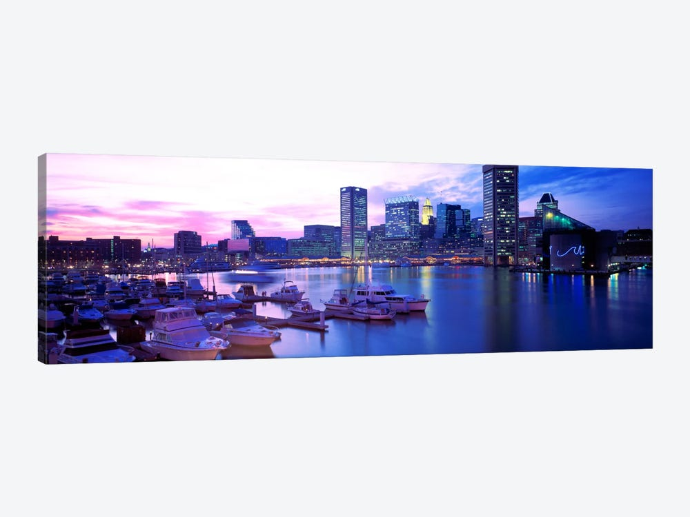 SunsetInner Harbor, Baltimore, Maryland, USA by Panoramic Images 1-piece Canvas Art Print