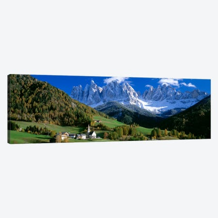 Church Of St. Magdalena, Val di Funes, South Tyrol Province, Trentino-Alto Adige Region, Italy Canvas Print #PIM1659} by Panoramic Images Canvas Artwork