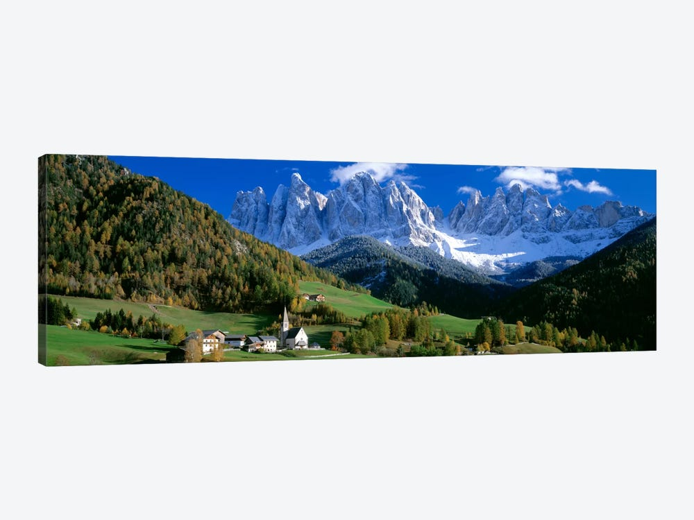 Church Of St. Magdalena, Val di Funes, South Tyrol Province, Trentino-Alto Adige Region, Italy by Panoramic Images 1-piece Canvas Wall Art