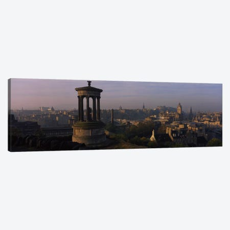 Dugald Stewart Monument With City Centre In The Background, Edinburgh, Scotland, United Kingdom Canvas Print #PIM1660} by Panoramic Images Canvas Art Print