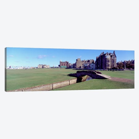 Footbridge in a golf courseThe Royal & Ancient Golf Club of St Andrews, St. Andrews, Fife, Scotland Canvas Print #PIM1661} by Panoramic Images Art Print