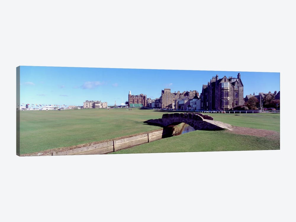 Footbridge in a golf courseThe Royal & Ancient Golf Club of St Andrews, St. Andrews, Fife, Scotland by Panoramic Images 1-piece Art Print