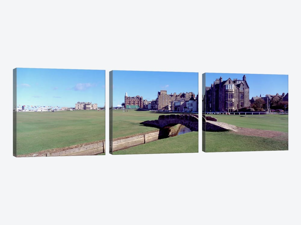 Footbridge in a golf courseThe Royal & Ancient Golf Club of St Andrews, St. Andrews, Fife, Scotland by Panoramic Images 3-piece Art Print