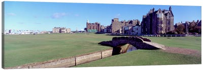 Footbridge in a golf courseThe Royal & Ancient Golf Club of St Andrews, St. Andrews, Fife, Scotland Canvas Art Print