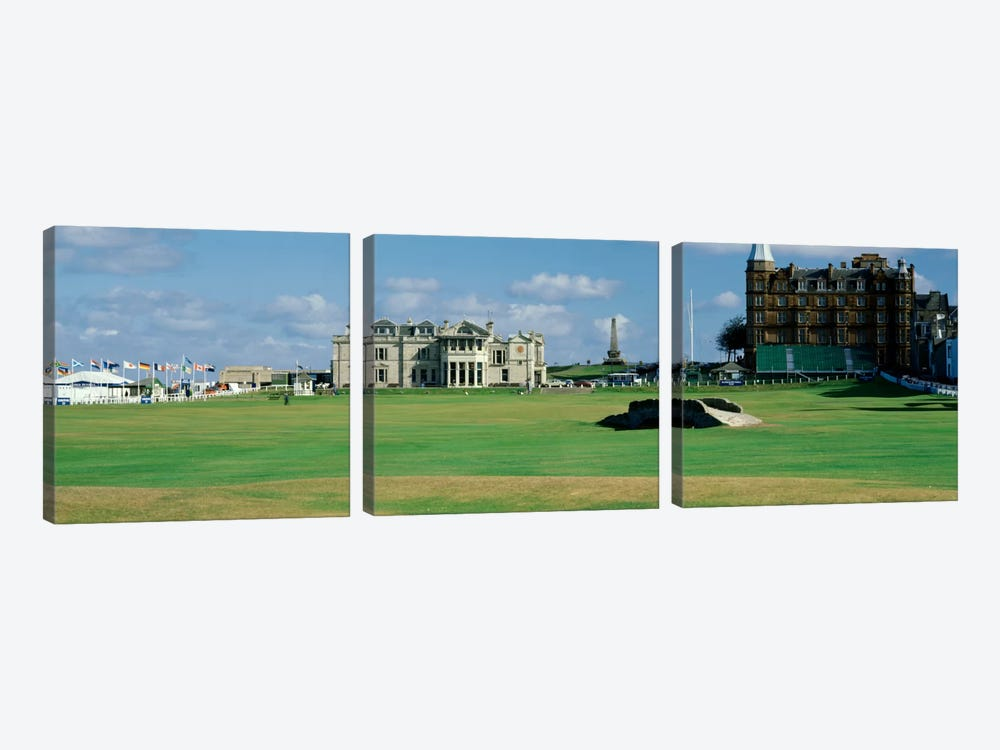 Swilcan Bridge Royal Golf Club St Andrews Scotland by Panoramic Images 3-piece Canvas Wall Art