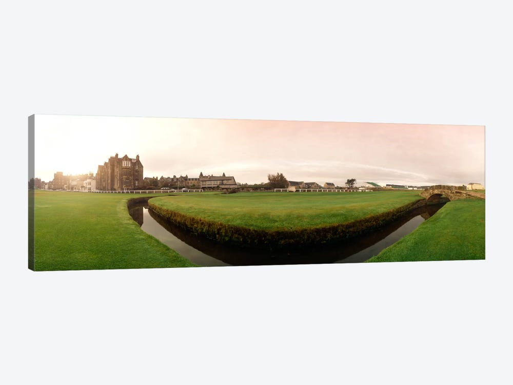 Ground Level View Of Swilcan Bridge & Burn, Old Course, The Royal And Ancient Golf Club Of St. Andrews, Fife, Scotland by Panoramic Images 1-piece Art Print