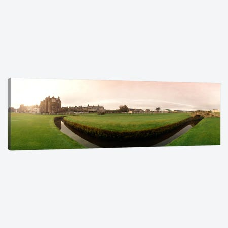 Ground Level View Of Swilcan Bridge & Burn, Old Course, The Royal And Ancient Golf Club Of St. Andrews, Fife, Scotland Canvas Print #PIM1665} by Panoramic Images Canvas Wall Art