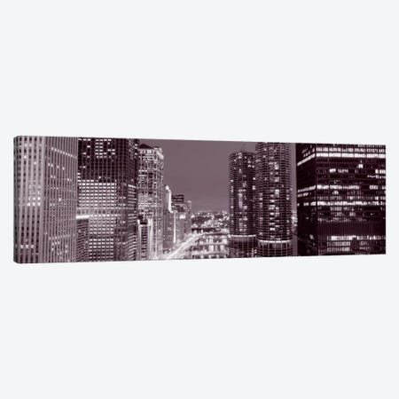 Wacker Drive, River, Chicago, Illinois, USA Canvas Print #PIM1666} by Panoramic Images Canvas Wall Art