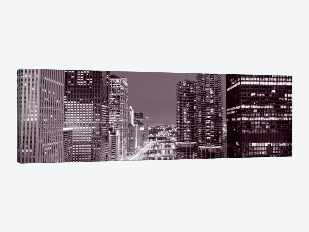 Wacker Drive, River, Chicago, Illinois, USA by Panoramic Images 1-piece Canvas Artwork