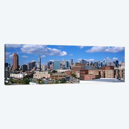 Aerial View Of An Urban City, Queens, NYC, New York City, New York State, USA Canvas Print #PIM1668} by Panoramic Images Canvas Print