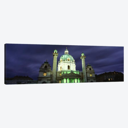 AustriaVienna, Facade of St. Charles Church Canvas Print #PIM1669} by Panoramic Images Canvas Art Print