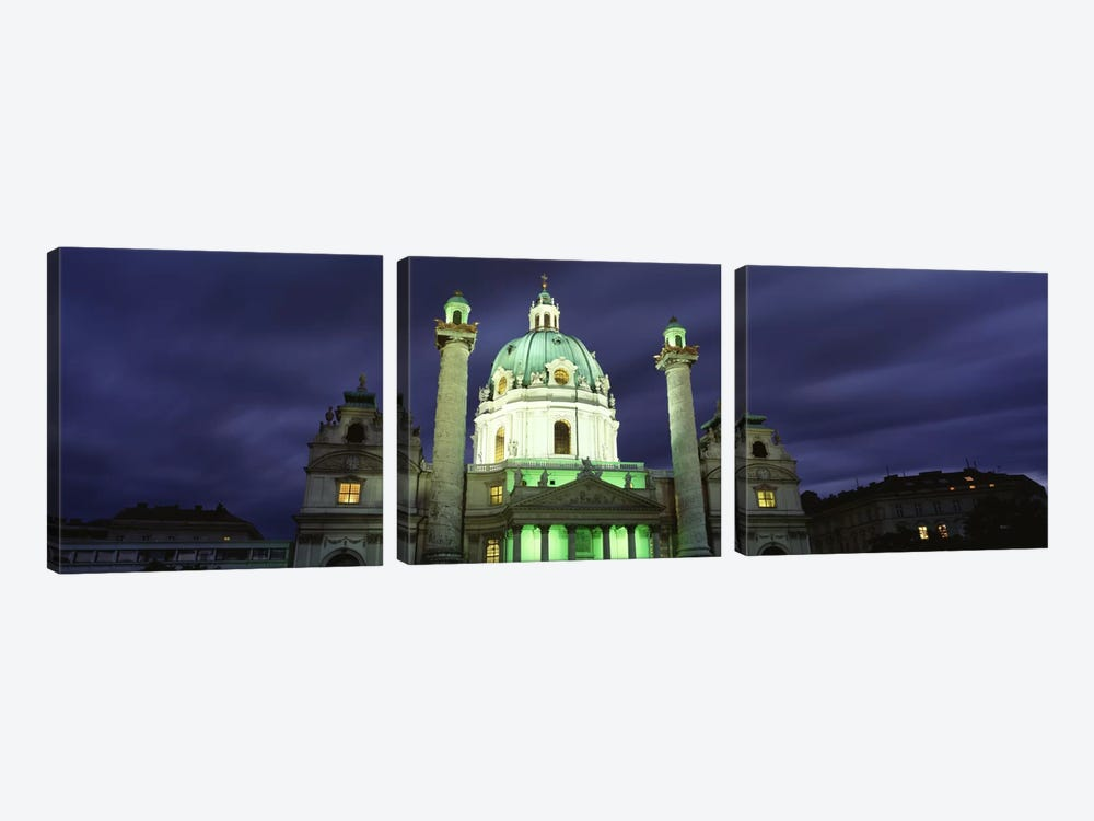 AustriaVienna, Facade of St. Charles Church by Panoramic Images 3-piece Canvas Art Print