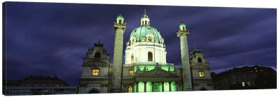 AustriaVienna, Facade of St. Charles Church Canvas Art Print