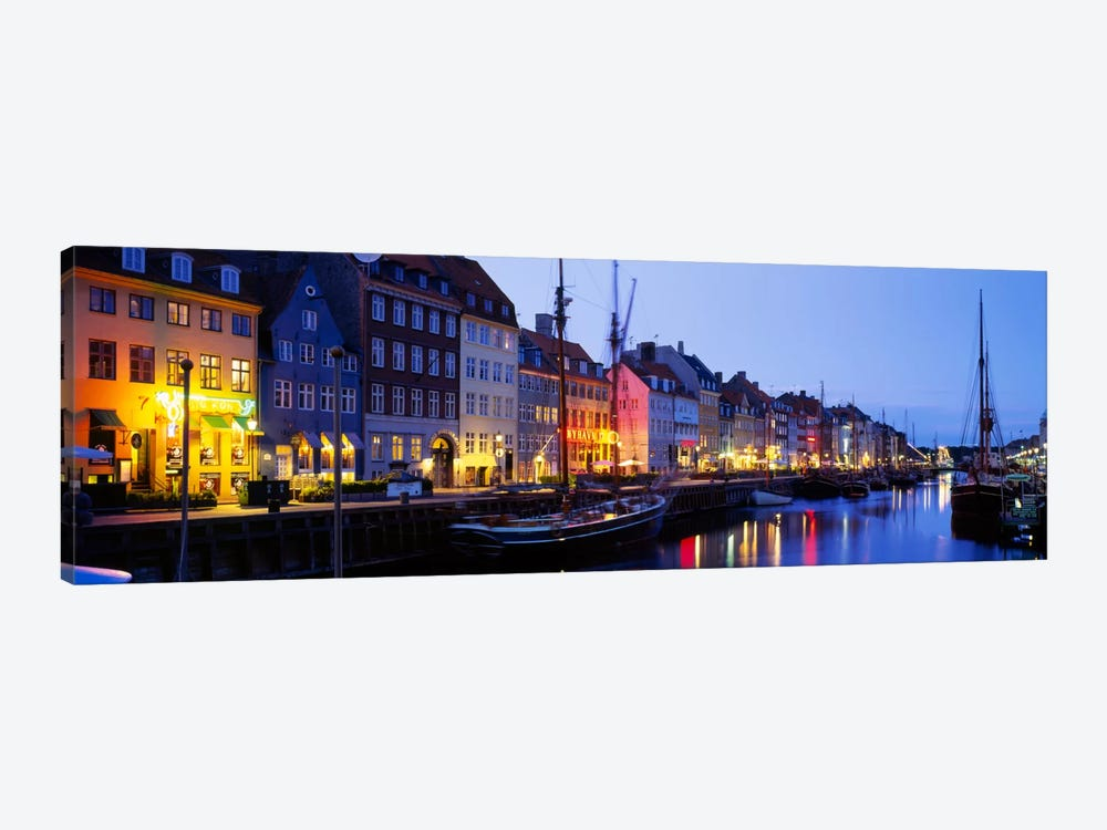 Waterfront Townhouses, Nyhavn, Copenhagen, Denmark by Panoramic Images 1-piece Art Print