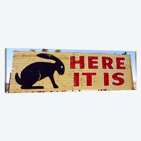 Jack Rabbit Trading Post Sign Joseph City AZ Canvas Print #PIM1672} by Panoramic Images Canvas Wall Art