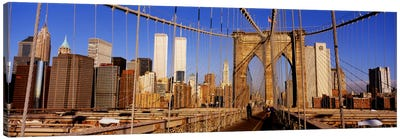 Brooklyn Bridge Manhattan New York NY USA Canvas Print #PIM1677