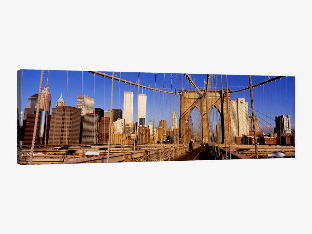 Brooklyn Bridge Manhattan New York NY USA by Panoramic Images 1-piece Canvas Artwork