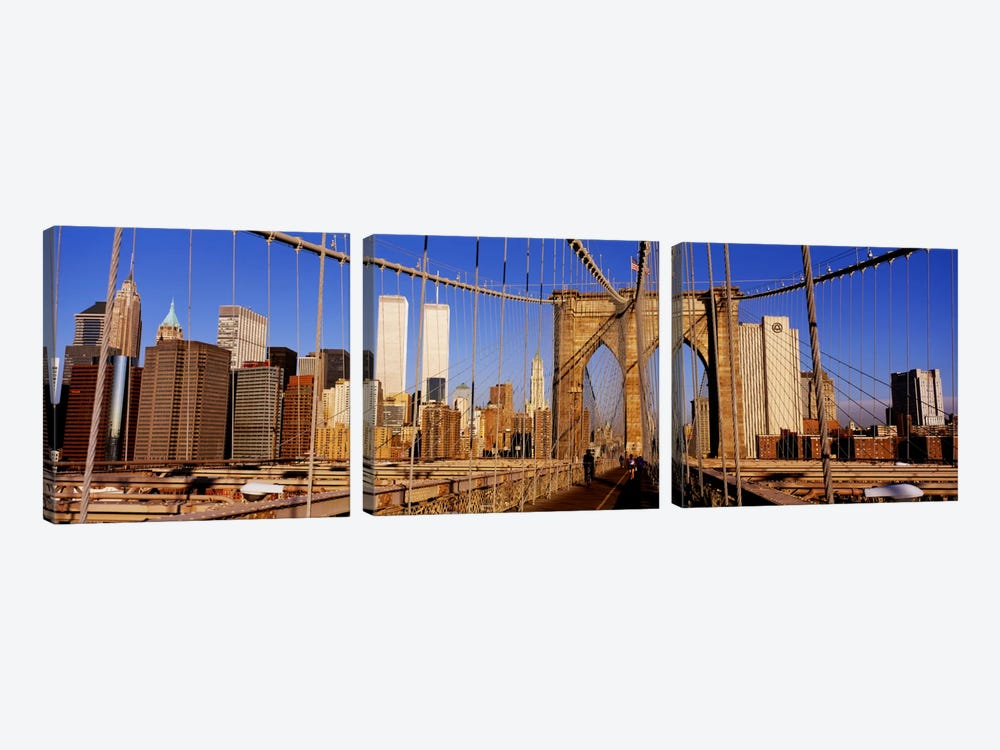 Brooklyn Bridge Manhattan New York NY USA by Panoramic Images 3-piece Canvas Artwork