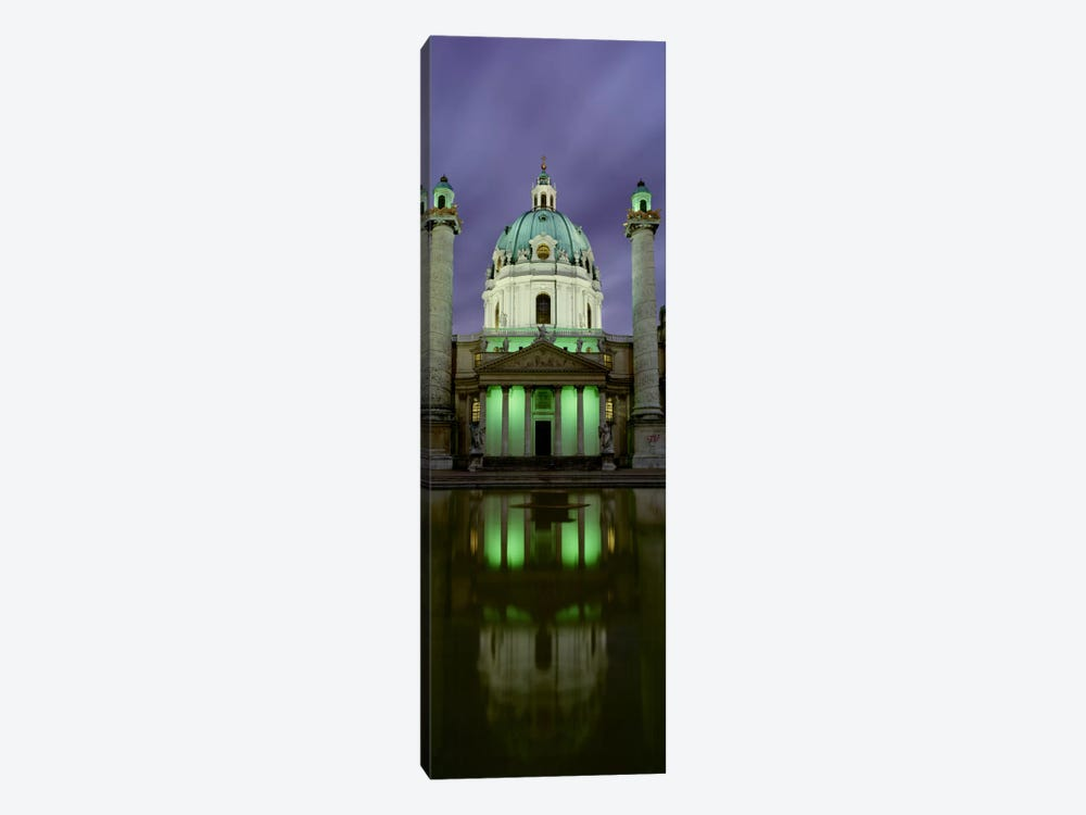AustriaVienna, Facade of St. Charles Church 1-piece Canvas Art Print