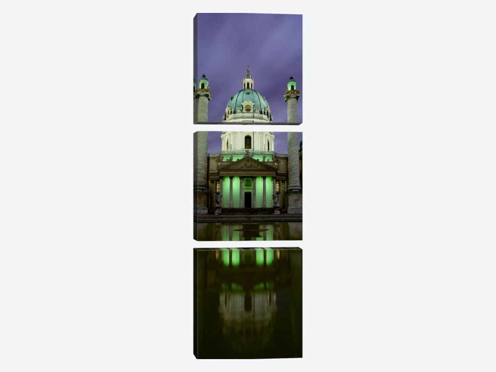 AustriaVienna, Facade of St. Charles Church 3-piece Art Print