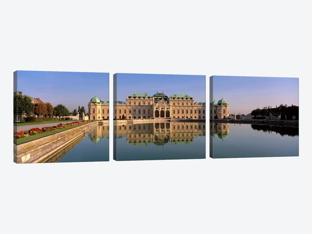 Vintage Photo Sites by Panoramic Images 3-piece Canvas Wall Art
