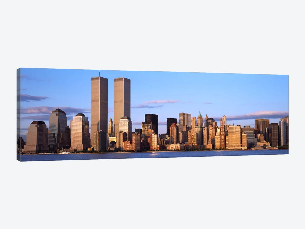 Skyscrapers in a cityWorld Trade Center, Manhattan, New York City, New York State, USA by Panoramic Images 1-piece Canvas Artwork