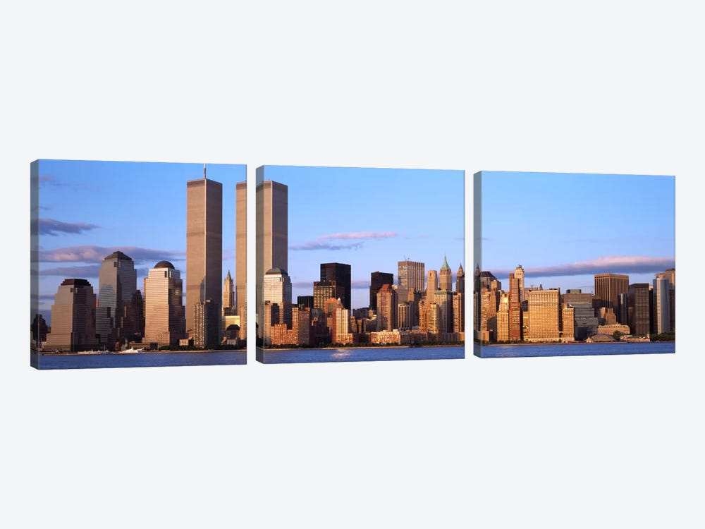 Skyscrapers in a cityWorld Trade Center, Manhattan, New York City, New York State, USA by Panoramic Images 3-piece Canvas Artwork