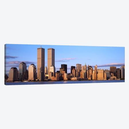 Skyscrapers in a cityWorld Trade Center, Manhattan, New York City, New York State, USA Canvas Print #PIM1688} by Panoramic Images Canvas Print