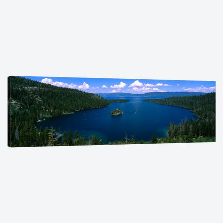 Fannette Island, Emerald Bay, Lake Tahoe, California, USA Canvas Print #PIM1691} by Panoramic Images Canvas Artwork